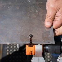 The Professional Nibbler cuts Mild Steel up to 1.6mm (16 Gauge)