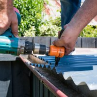 Trim your gutter overhang easily with the Professional Nibbler