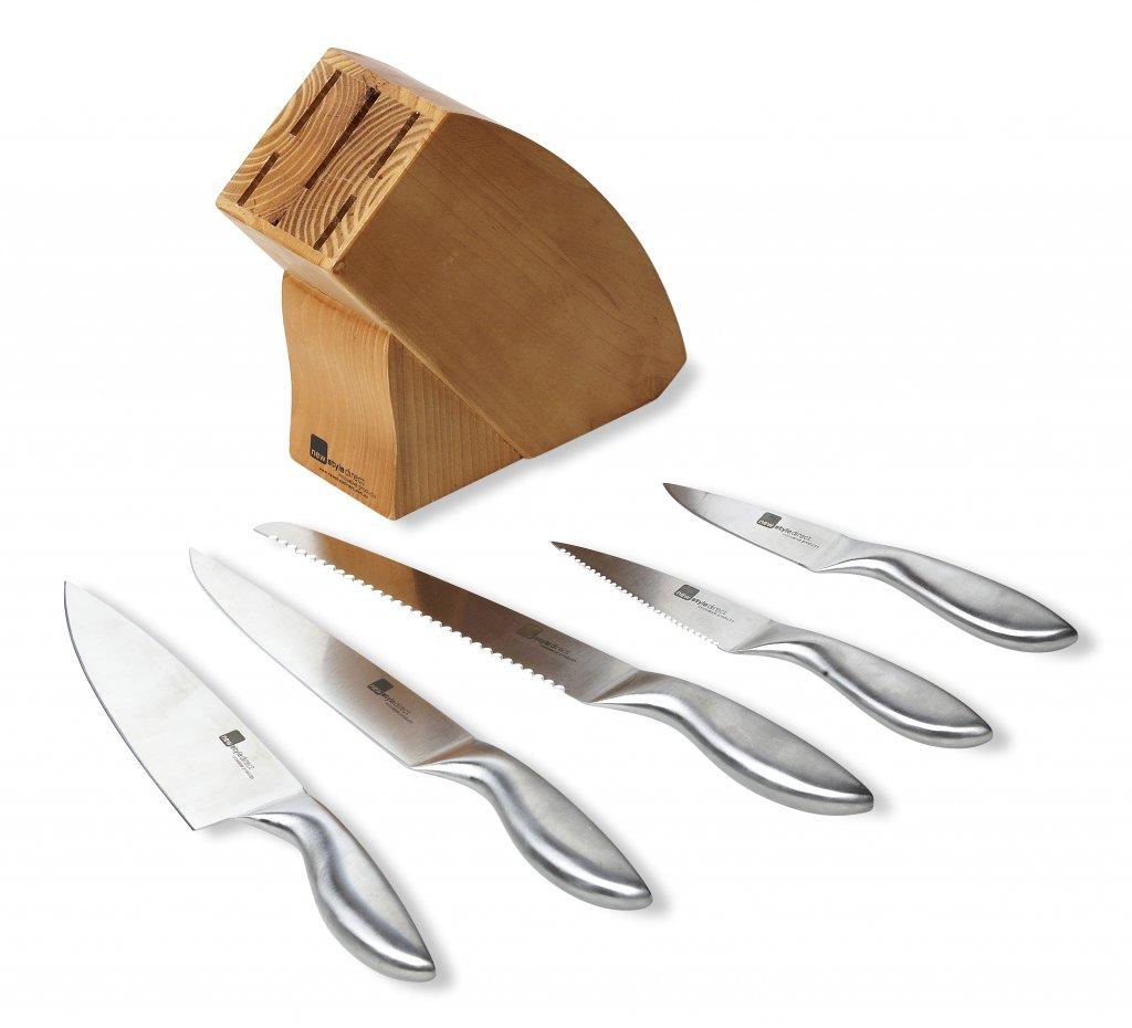 Wooden Knife Block Set Newstyle Direct