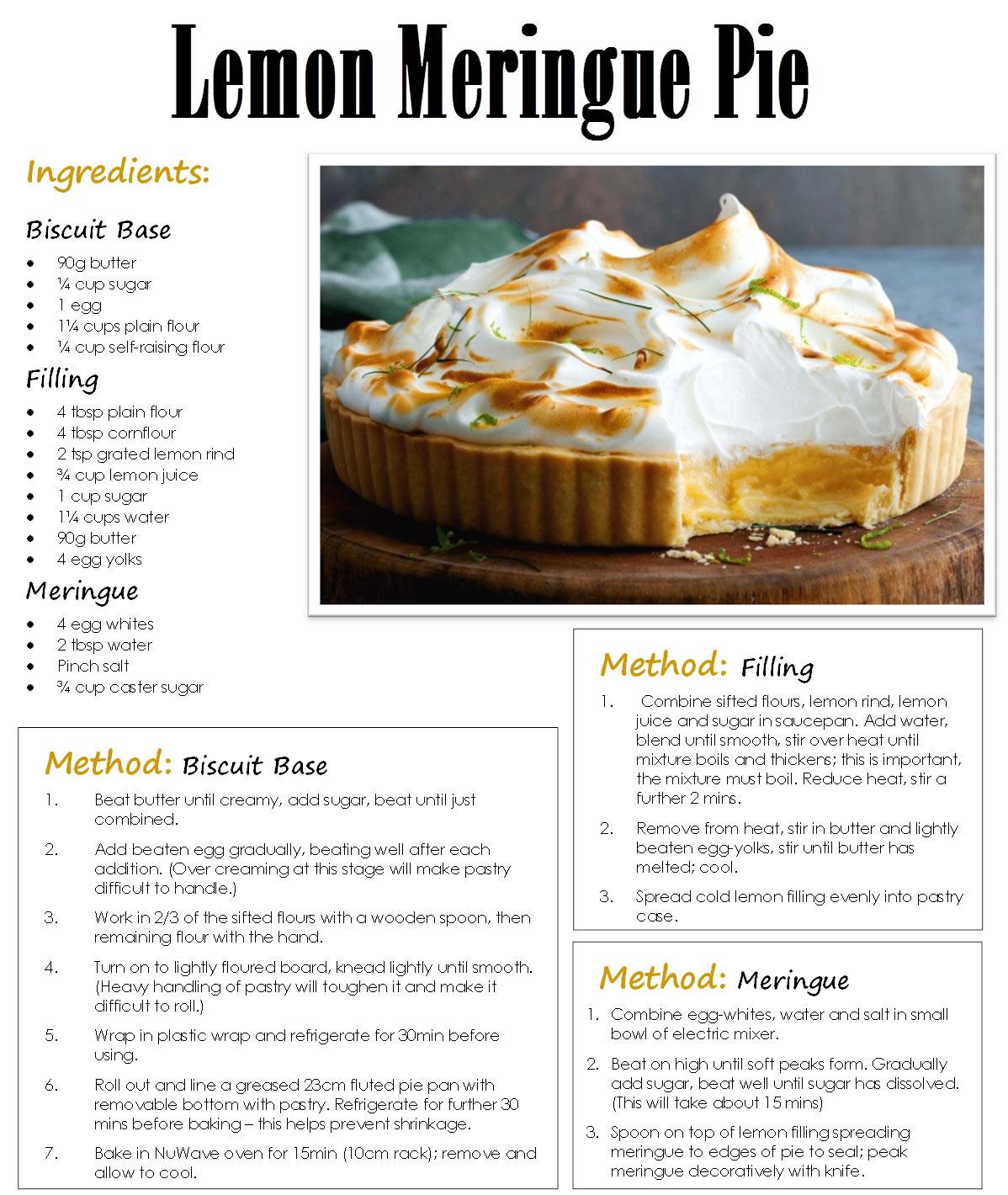 Lemon Pudding Cake Pie Recipe