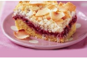 NuWave Oven Pro Plus - Recipes: Raspberry & Coconut Slice